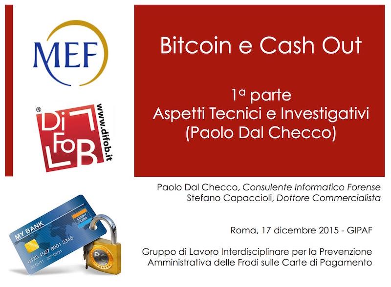 Bitcoin Forensics al GIPAF