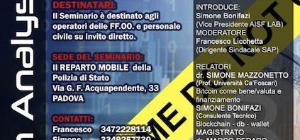 Seminario su Bitcoin Intelligence a Padova