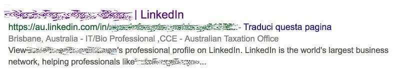 Profilo Linkedin dell'impiegato accusato di aver pubblicato un leak