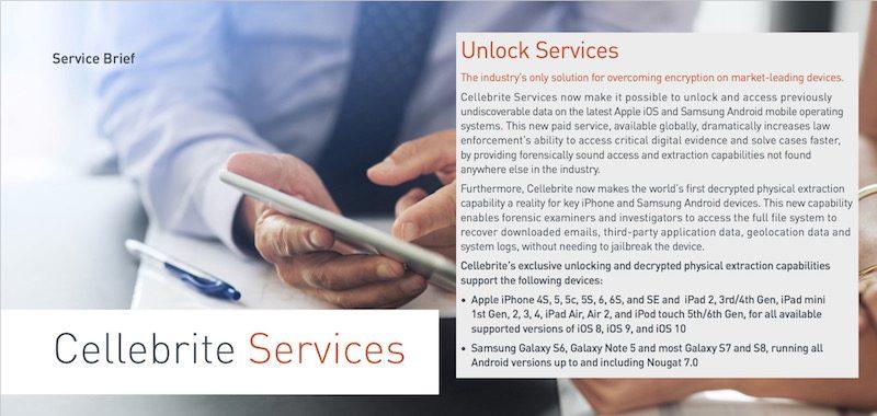 Cellebrite Unlock Services - CAIS