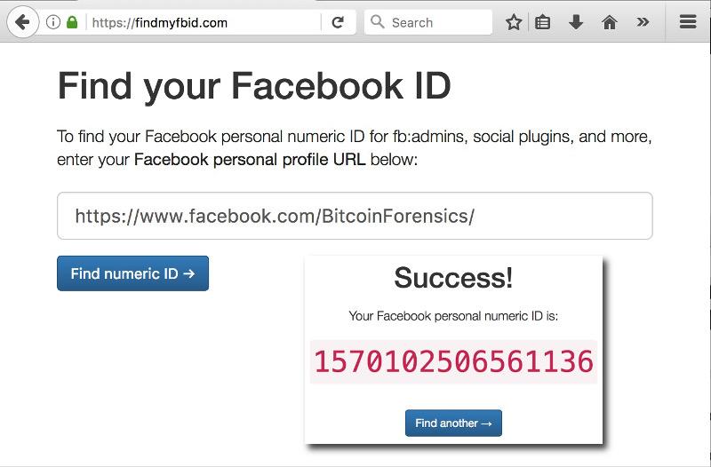 Come trovare ID di una pagina o profilo Facebook per denunciare una diffamazione