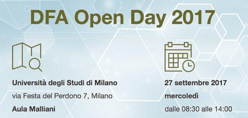 DFA Open Day 2017 a Milano