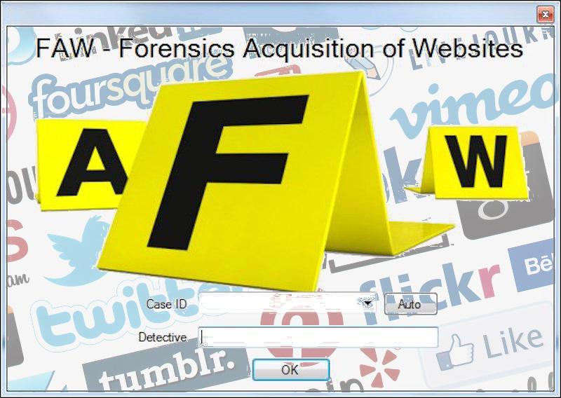 Acquisizione forense di profili e pagine Facebook con FAW