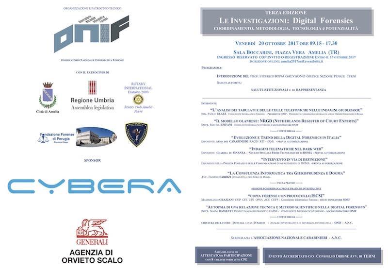 Seminario ONIF sulle Indagini Digitali