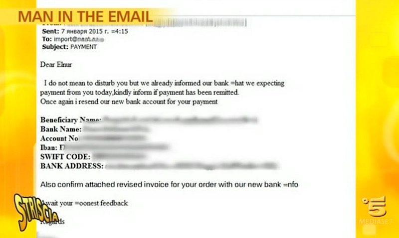 Frode dei bonifici tramite falsa mail e IBAN