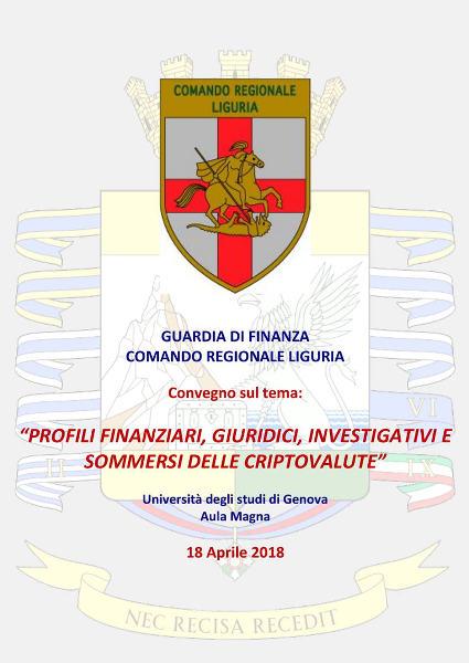 Convegno sulle Criptovalute presso l'Università degli Studi di Genova
