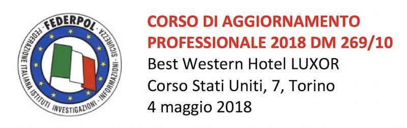Corso Federpol di Aggiornamento Professionale a Torino