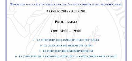 Conferenza sulla Cifratura dei Dati a Milano