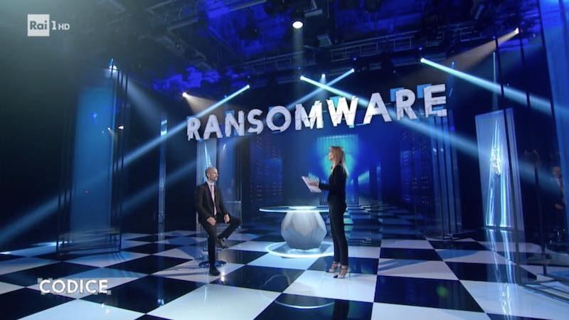 A Codice su Raiuno si parla di Ransomware e riscatti in bitcoin