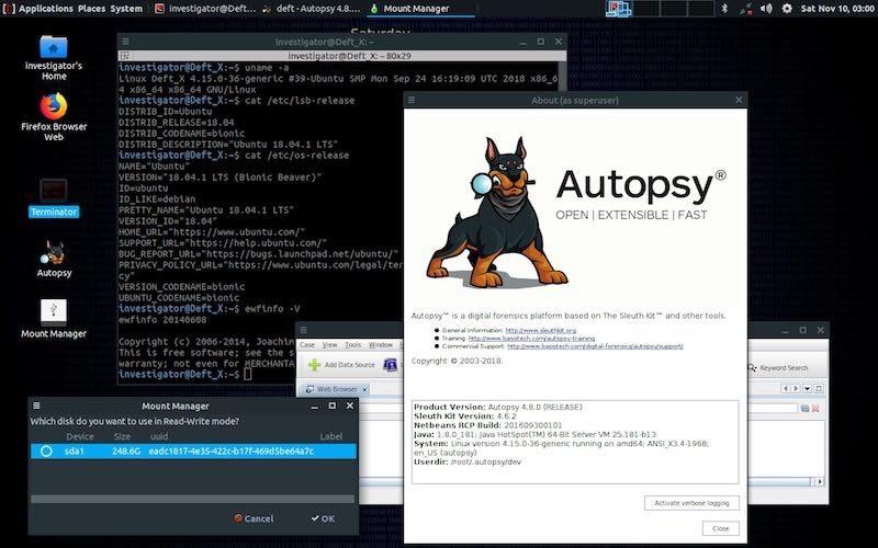 DEFT XVA Distribuzione Forense Linux