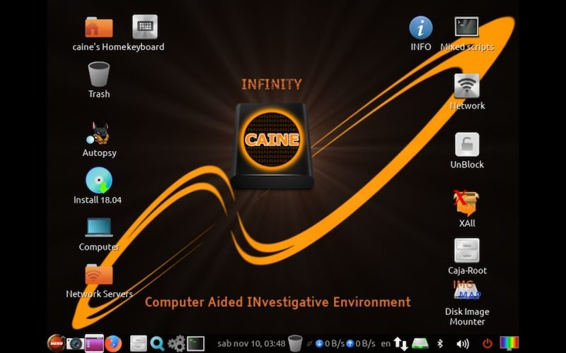 CAINE 10 distribuzione forense in download
