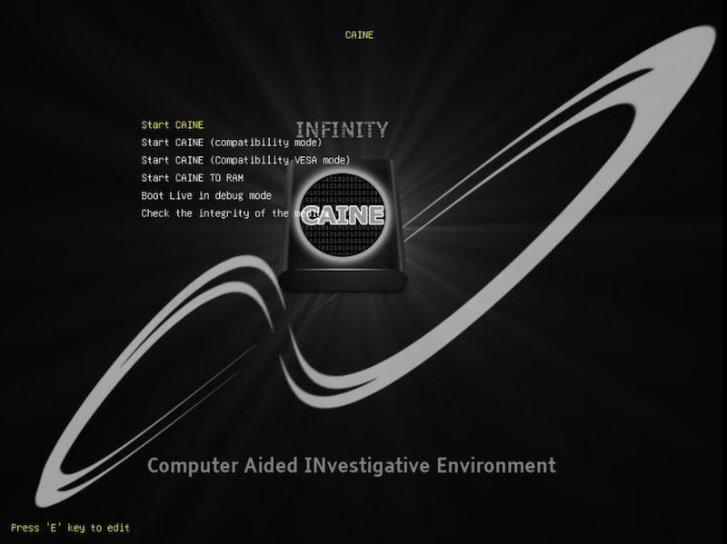 Caine distro forense in modalità UEFI