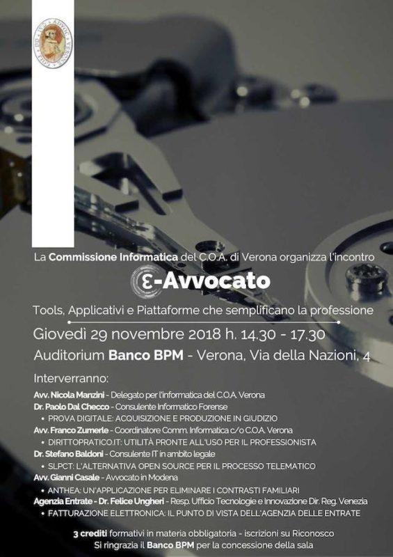 Conferenza a Verona organizzata da Ordine degli Avvocati di Verona