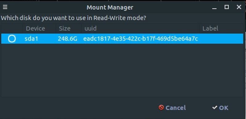 DEFT XVA mount manager per montare dischi in read only o scrittura