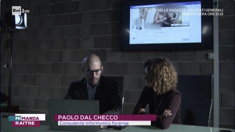 Paolo Dal Checco a Mi Manda Raitre