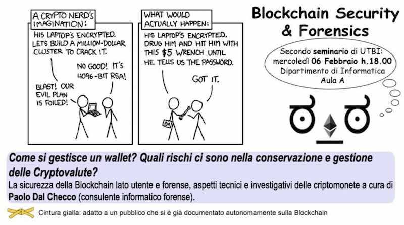 Conferenza UTBI su Blockchain Security and Forensics