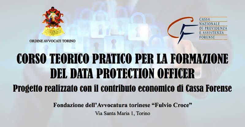 Corso DPO a Torino - Ordine Avvocati Torino e Cassa Forense