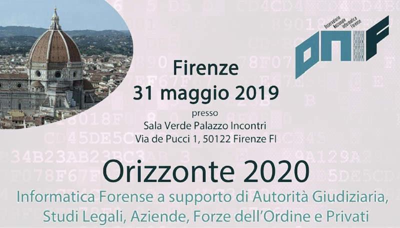 ONIF - Convegno su Informatica Forense a Firenze