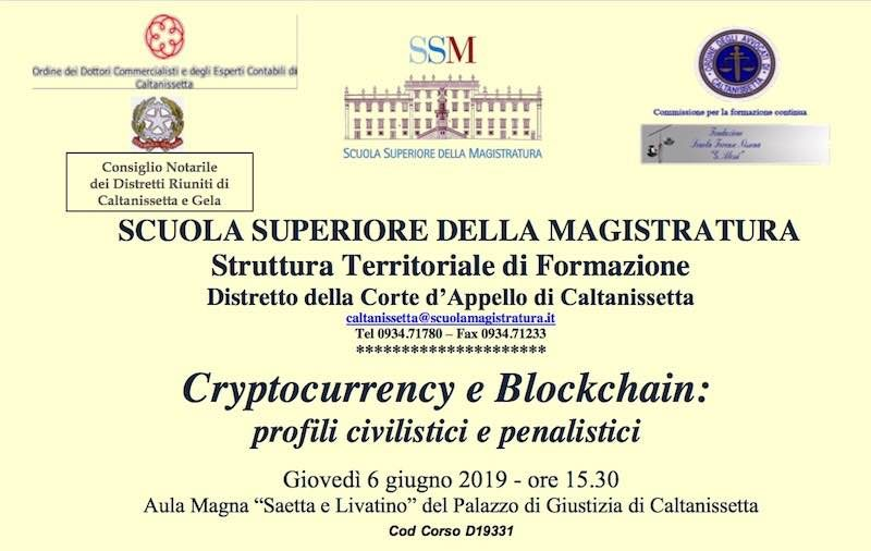 Scuola Superiore di Magistratura - Cryptocurrency e Blockchain