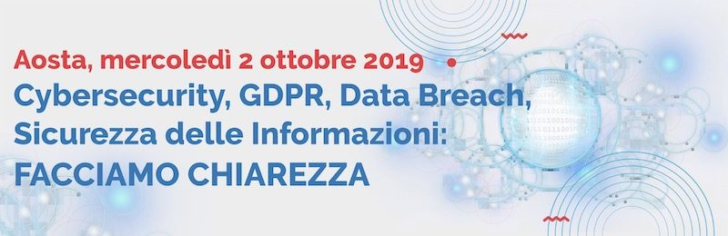 Workshop su Cybersecurity, GDPR, Data Breach
