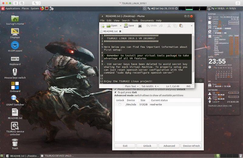 Tsurugi Linux su macchina virtuale