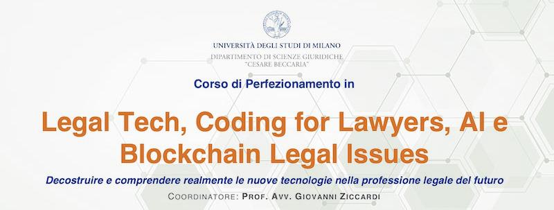 Corso LegalTech Università di Milano - Prof. Ziccardi