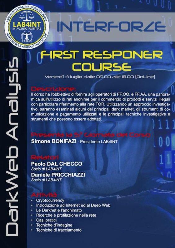 Seminario Interforze su Analisi Dark Web e Cryptocurrency Forensics