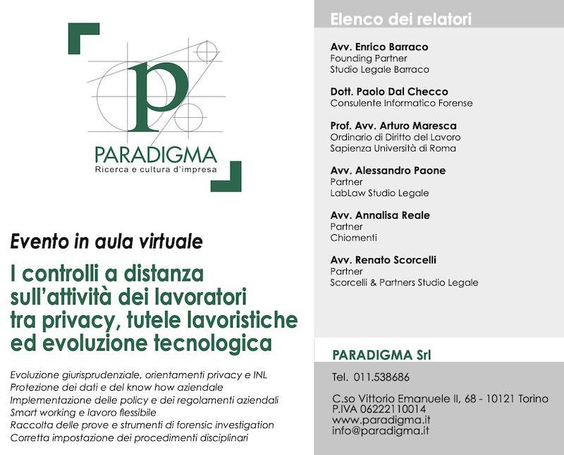 Controlli a distanza sui lavoratori tra privacy tutele lavoristiche ed evoluzione tecnologica - Paradigma