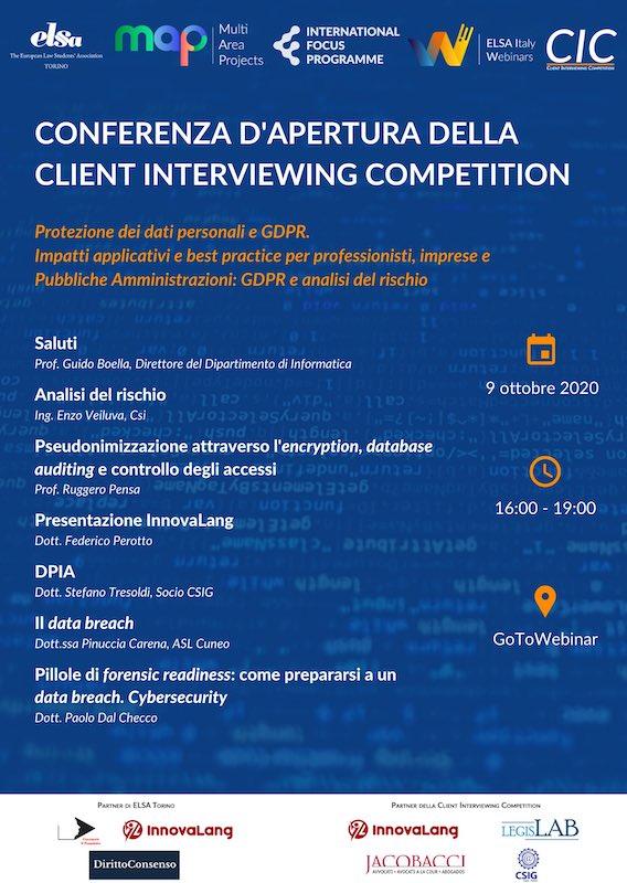 Forensic Readiness e Gestione dei Data Breach a Torino per ELSA e CSIG