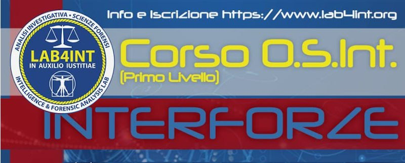 Corso OSINT Interforze