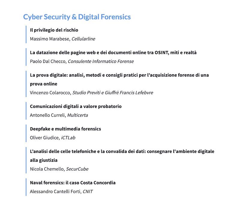 Legal Tech Forum 2020 - Cyber Security & Digital Forensics