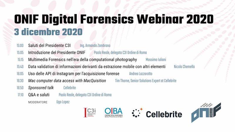 ONIF - Digital Forensics Webinar 2020