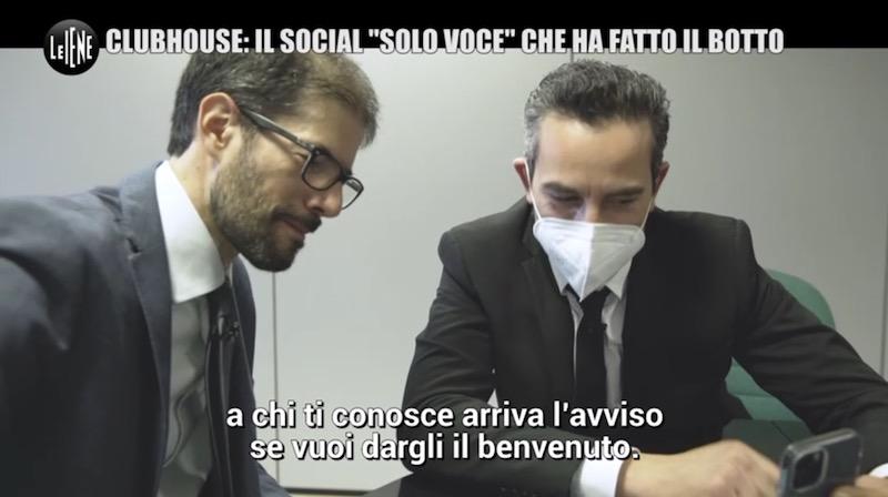 Paolo Dal Checco con Le Iene e Matteo Viviani su Clubhouse