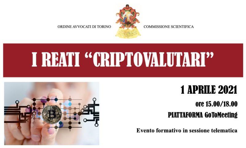 Conferenza su Reati Criptovalutari a Torino