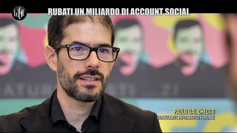 Paolo Dal Checco a Le Iene su Hack di Profili Instagram e Facebook