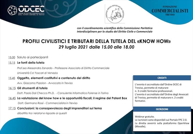 ODCEC - Profili civilistici e tributari della tutela del know how